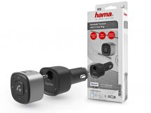 HAMA Bluetooth audio vevőegység autókhoz, 3,5 mm-es csatlakozóval, USB töltéssel - HAMA Bluetooth Receiver with 3.5 mm Plug - fekete/ezüst