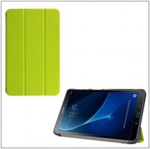Flip bőr tok Trifold tartó funkcióval zöld Galaxy TAB A 10.1