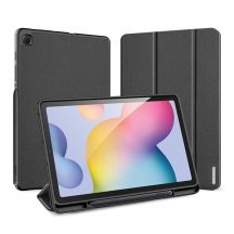 Dux Ducis Flip bőr tok Trifold tartó funkcióval fekete Galaxy Tab S6 Lite