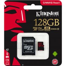 Kingston microSDXC 128GB UHS-1 U3 V30 A1 + adapter SDCR/128GB