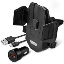 Spigen Kuel X35W univerzális autós tartó vezeték nélküli wireless gyorstöltővel, szellőzőrácshoz