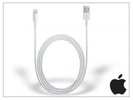 Apple iPhone 5/5S/5C/SE/iPad 4/iPad Mini eredeti, gyári USB töltő- és adatkábel 1 m-es vezetékkel - Lightning - MXLY2ZM/A