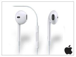 Apple iPhone 5/5S/5C/SE/6/6S eredeti távirányítós, sztereó headset mikrofonnal - MD827ZM/A - MNHF2ZM/A - fehér (ECO csomagolás)