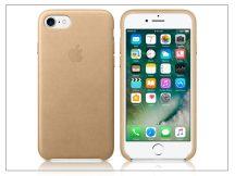 Apple iPhone 7/iPhone 8 eredeti gyári bőr hátlap - MMY72ZM/A - tan