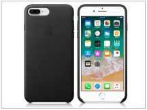 Apple iPhone 8 Plus/iPhone 7 Plus eredeti gyári bőr hátlap - MQHM2ZM/A - black