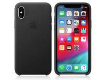 Apple iPhone XS eredeti gyári bőr hátlap - MRWM2ZM/A - black