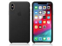 Apple iPhone XS Max eredeti gyári bőr hátlap - MRWT2ZM/A - black