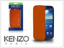 Samsung i9500 Galaxy S4 flipes bőrtok - Kenzo GlossyCox - orange