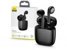 Baseus TWS Bluetooth sztereó headset v5.0 + töltőtok - Baseus W04 Pro True Wireless Earphones with Charging Case - fekete