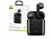 Baseus TWS Bluetooth sztereó headset v5.0 + töltőtok - Baseus W09 True Wireless Earphones with Charging Case - fekete