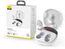 Baseus TWS Bluetooth sztereó headset v5.0 + töltőtok - Baseus WM01 Plus True Wireless Earphones with Charging Case - fehér