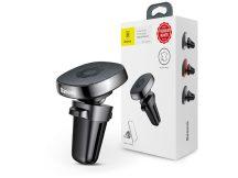 Baseus univerzális szellőzőrácsba illeszthető mágneses PDA/GSM autós tartó kábeltartóva- Baseus Privity Series Pro SUMQ-PR01 - fekete