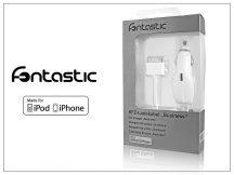 Apple iPhone 2/3G/3GS/4/4S szivargyújtós töltő - 1A - MFI (Apple engedélyes!) - fehér