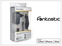 Apple iPhone 5/5S/5C/SE/6S/6S Plus Lightning töltő szett - USB+hálózati+szivargyújtó töltő - fekete (Apple MFI engedélyes)- 5V/1A