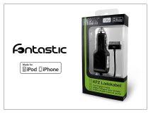 Apple iPhone 2/3G/3GS/4/4S szivargyújtós töltő - 1A - MFI (Apple engedélyes!) - fekete