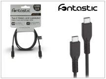 USB Type-C - USB Type-C adat- és töltőkábel - Fontastic Type-C 2.0 - fekete