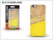Apple iPhone 6/6S hátlap - BCN Caseland Wood Lines - yellow