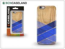 Apple iPhone 6/6S hátlap - BCN Caseland Wood Stripe - azul