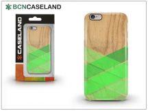 Apple iPhone 6/6S hátlap - BCN Caseland Wood Stirpe Verde - green