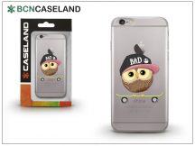 Apple iPhone 7 Plus/iPhone 8 Plus szilikon hátlap - BCN Caseland Skater Owl - transparent