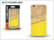 Apple iPhone 7 Plus/iPhone 8 Plus szilikon hátlap - BCN Caseland Wooden Lines - yellow