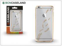 Apple iPhone 6/6S szilikon hátlap - BCN Caseland Feathers Oro - gold/transparent