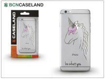 Apple iPhone 7/iPhone 8 szilikon hátlap - BCN Caseland Unicornetto - transparent