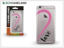 Apple iPhone 7 Plus/iPhone 8 Plus szilikon hátlap - BCN Caseland Love Purple - transparent