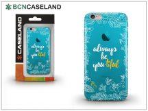 Apple iPhone 7 Plus/iPhone 8 Plus szilikon hátlap - BCN Caseland Beautiful - cyan