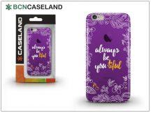Apple iPhone 6/6S szilikon hátlap - BCN Caseland Beautiful - lila