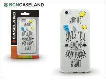 Apple iPhone 7 Plus/iPhone 8 Plus szilikon hátlap - BCN Caseland Lemons - transparent