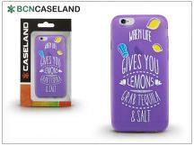 Apple iPhone 6/6S szilikon hátlap - BCN Caseland Lemons - lila