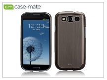 Samsung i9300 Galaxy S III hátlap - Case-Mate Barely There Brushed Aluminium - silver