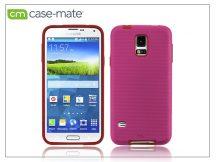 Samsung SM-G900 Galaxy S5 hátlap képernyővédő fóliával - Case-Mate Tough - pink/red