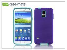 Samsung SM-G900 Galaxy S5 hátlap képernyővédő fóliával - Case-Mate Tough - purple/pool blue