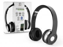 Rebeltec Wireless Bluetooth sztereó fejhallgató beépített mikrofonnal - Rebeltec Crystal Hi-Fi Bluetooth Headset - fekete/ezüst