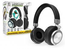 Rebeltec Wireless Bluetooth sztereó fejhallgató beépített mikrofonnal - Rebeltec Mozart Hi-Fi Bluetooth Headset - fekete/ezüst