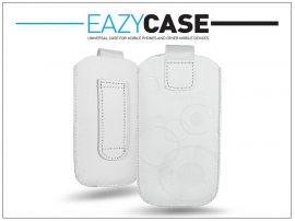 DECO SLIM univerzális bőrtok - LG P920 Optimus 3D/Sony Xperia Z1 Compact/Samsung G3500 - fehér - 14. méret
