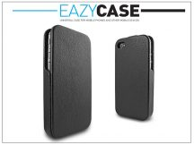 Eazy Case exclusive Slim Flip tok - Apple iPhone 4/4S - fekete