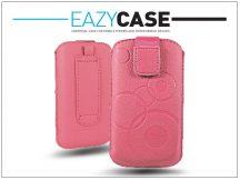 DECO SLIM univerzális bőrtok - LG P920 Optimus 3D/Sony Xperia Z1 Compact/Samsung G3500 - pink - 14. méret
