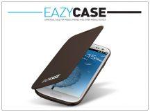 Samsung i9300 Galaxy S III flipes hátlap - EFC-1G6FAECSTD utángyártott - brown