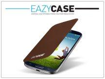 Samsung i9500 Galaxy S4 flipes hátlap - EF-FI950BAEGWW utángyártott - brown