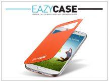 Samsung i9500 Galaxy S4 S View Cover flipes hátlap on/off funkcióval - EF-CI950BOEGWW utángyártott - orange