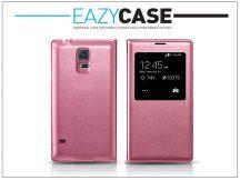 Samsung SM-G900 Galaxy S5 S View Cover flipes hátlap - EF-CG900B utángyártott - pink