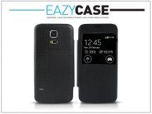 Samsung SM-G800 Galaxy S5 Mini S View Cover flipes hátlap - utángyártott - fekete