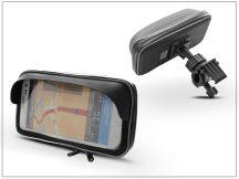 Univerzális kerékpárra/motorkerékpárra szerelhető, vízálló telefontartó napellenzővel - Extreme-155-Shield