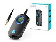 Extreme Bluetooth 5.0 jeladó és vevő mikrofonnal - Extreme T3 Smart BT Receiver and Transmitter - fekete