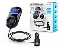 Extreme Bluetooth FM-transmitter/szivargyújtó töltő - USB QC3.0 + TF-kártyaolvasó - Extreme BC30AQ - fekete