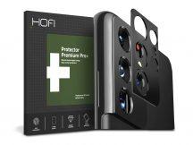 HOFI Metal Camera Sytling hátsó kameravédő borító - Samsung G998F Galaxy S21 Ultra - black