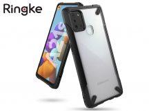 Samsung A217F Galaxy A21s ütésálló hátlap - Ringke Fusion X - black
